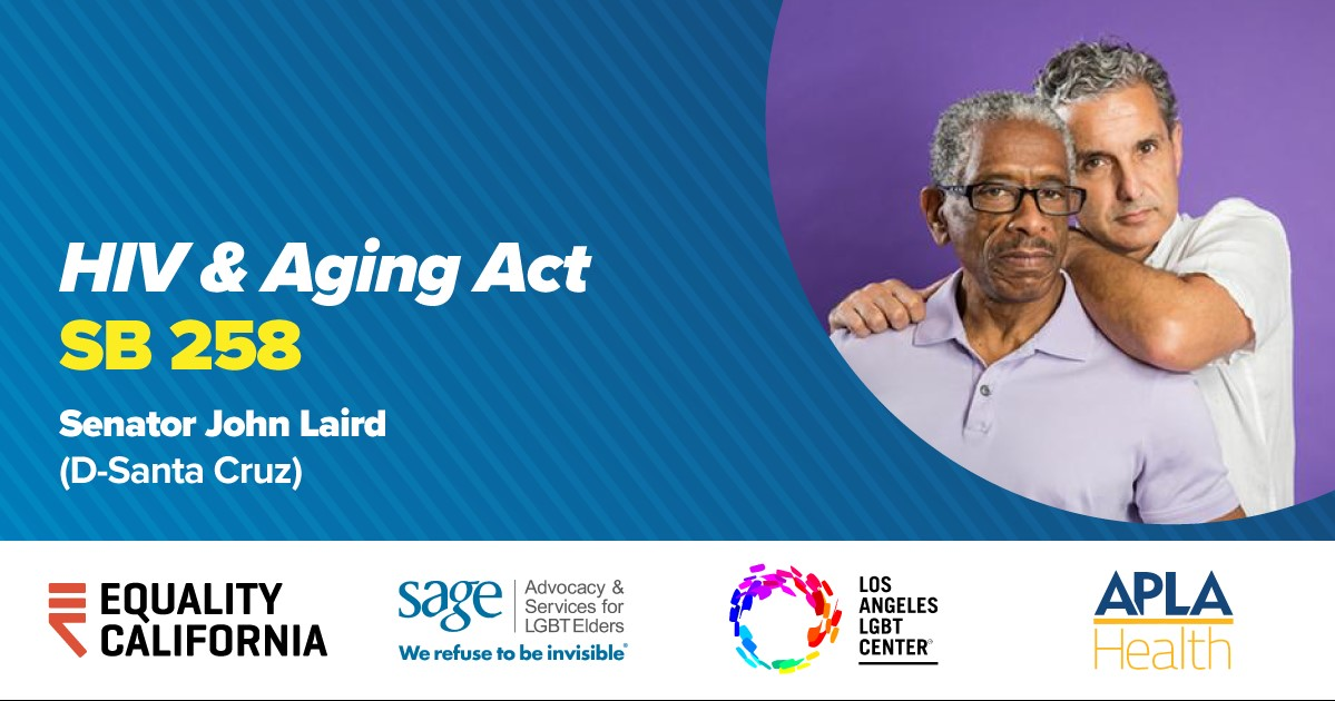 HIV and aging legislation with Sen Laird